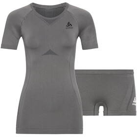 Odlo Performance Evolution Light Underwear Set Women, steel grey/graphite grey